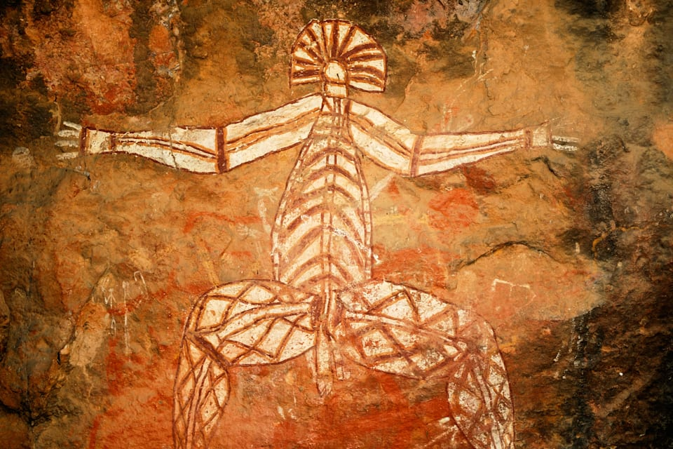 Kakadu National Park has rock art -- some on display, and some not -- dating back