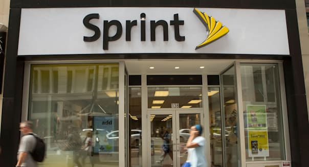 A Sprint store is pictured in the New York City borough of Manhattan, NY