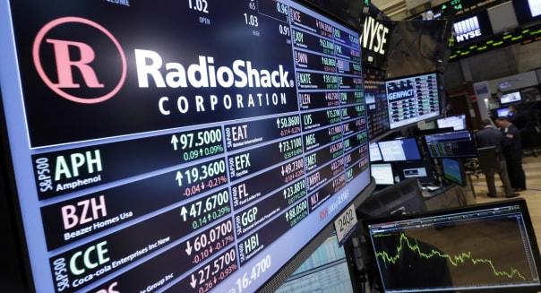 Radio Shack Stock Drop