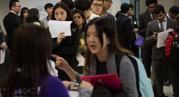 Jobseekers Attend An NYU Engineering and Technology Career Fair As Jobless Claims In U.S. Increased