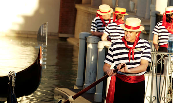 Gondoliers at Venetian Hotel and Casino Las Vegas
