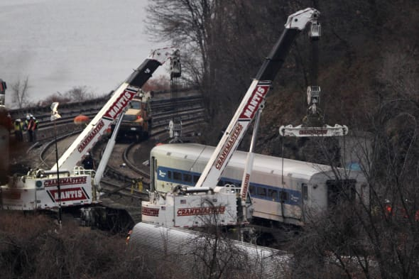 APTOPIX NYC Train Derailment
