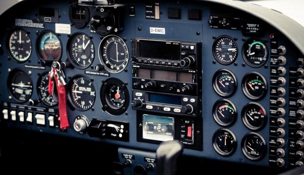 cockpit detail. cockpit of a...