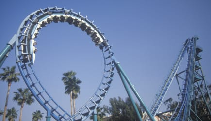 'Roller Coaster, Knott's Berry Farm, Buena Park, California'
