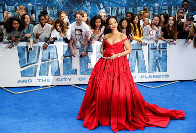 """Cast member Rihanna poses at the European premiere of """"Valerian and the City of a Thousand Planets""""..."""