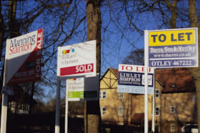 For sale and sold signs in Leeds