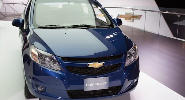 The Chevrolet Sail on display at the North American International Auto Show.