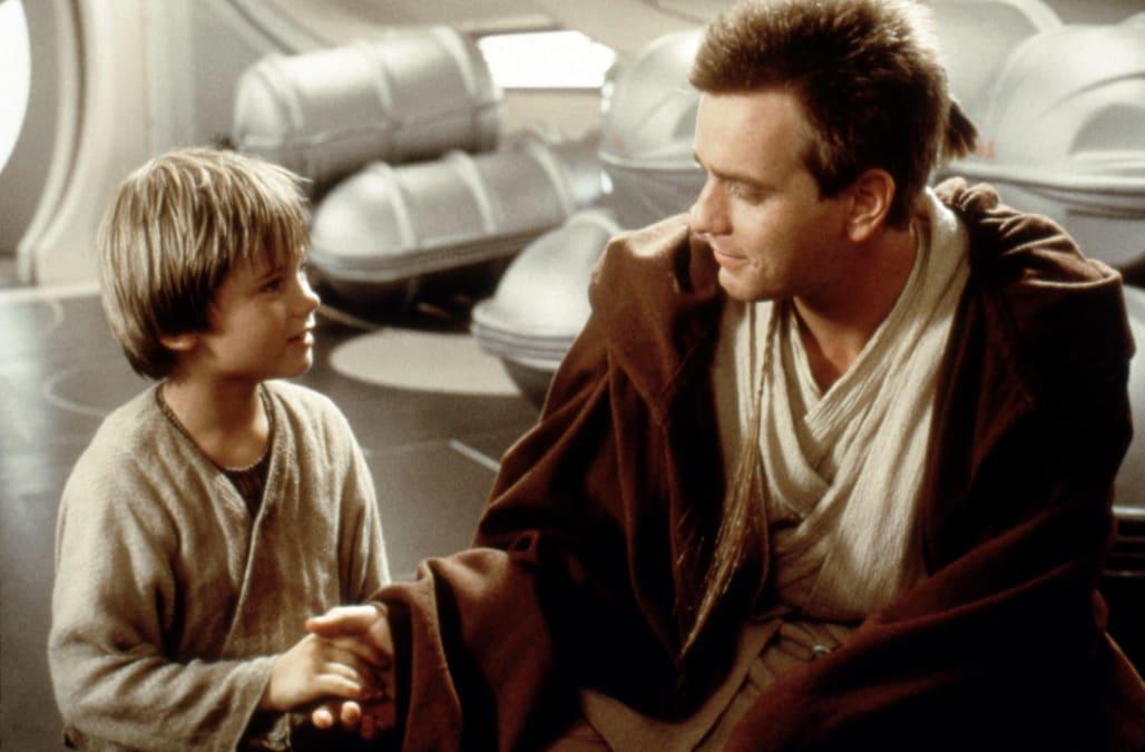 Jake Lloyd and Ewan McGregor / Star Wars-Episode I The Phantom Menace / 1999, directed by George Lucas, Walt Disney Studios Moti
