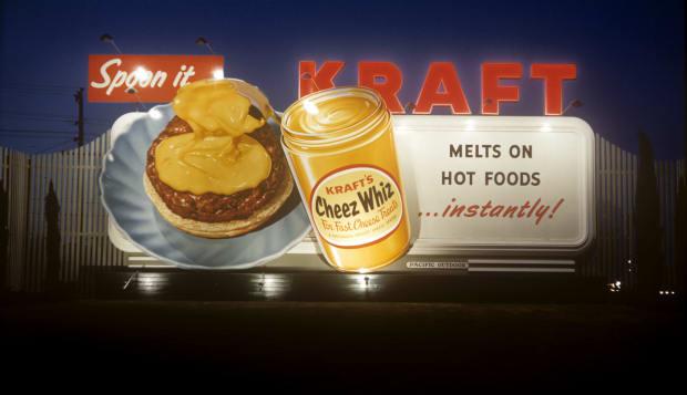 Kraft Cheez Whiz billboard circa 1950s