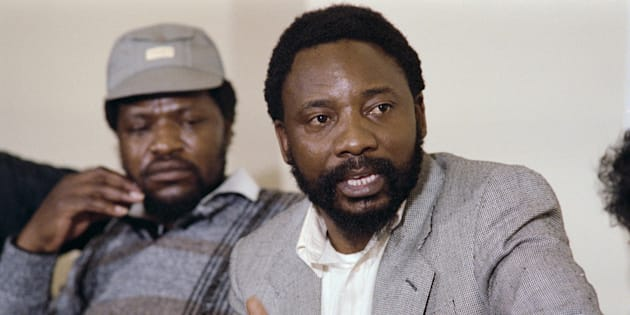 Cyril Ramaphosa as the secretary-general of National Union of Mineworkers (NUM) in