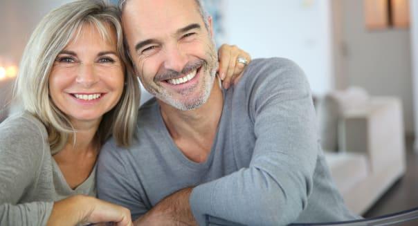 cheerful senior couple enjoying ...