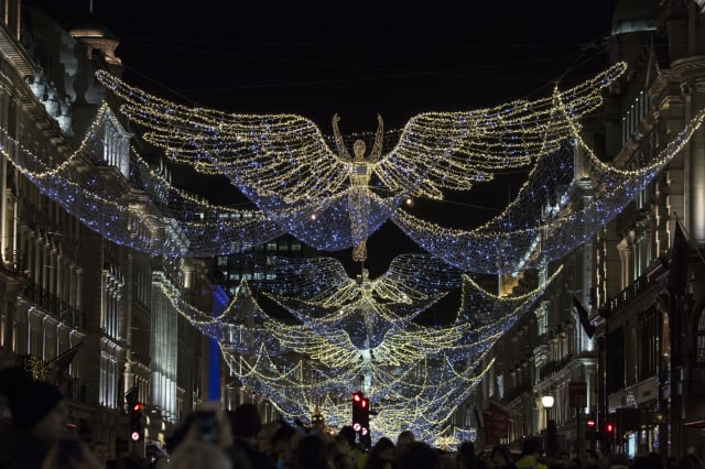 Holly Willoughby, Jamie Theakston and Emma Bunton Switch On Regent Street Christmas Lights
