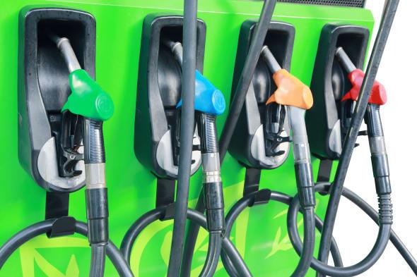 background  fuel dispenser at...