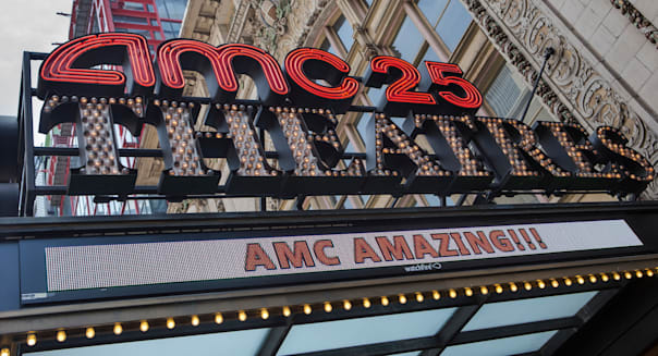 AMC Empire 25 theater in New York City is pictured in the New York City borough of Manhattan, NY