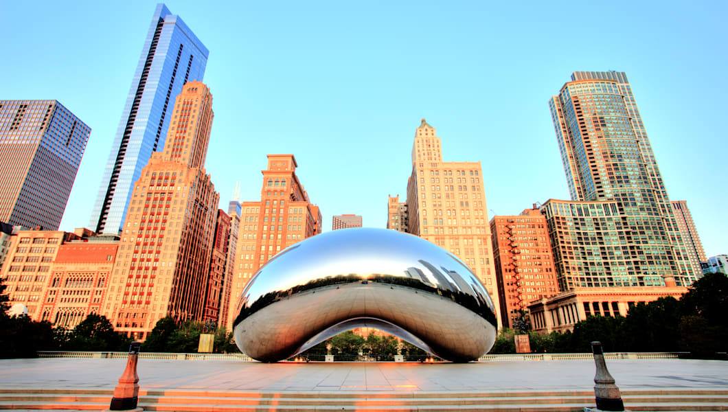 Cloud Gate in Millennium Park at Sunrise, Chicago