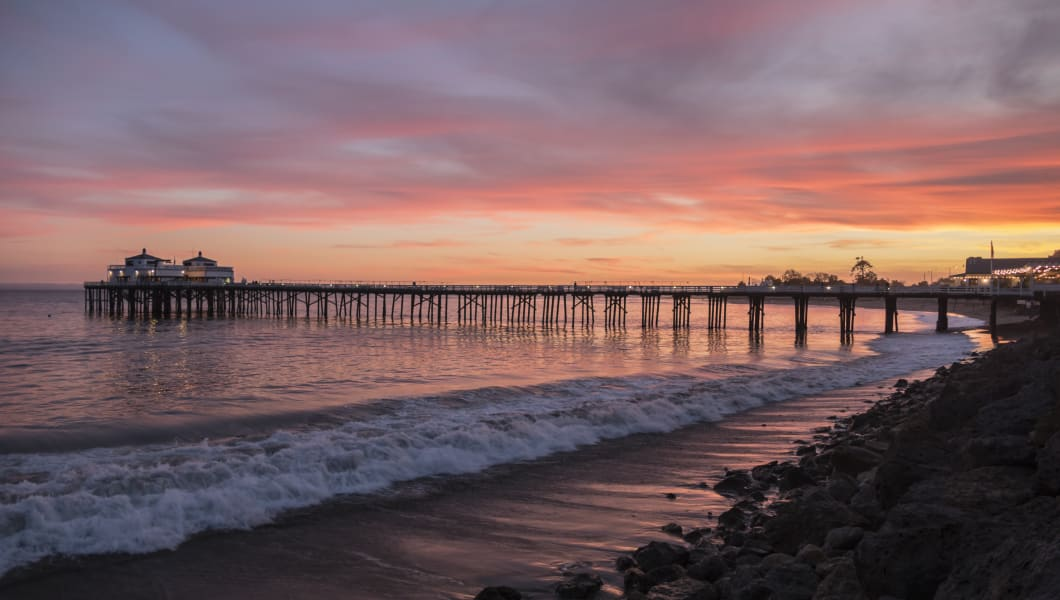 Malibu Pier California Sunset