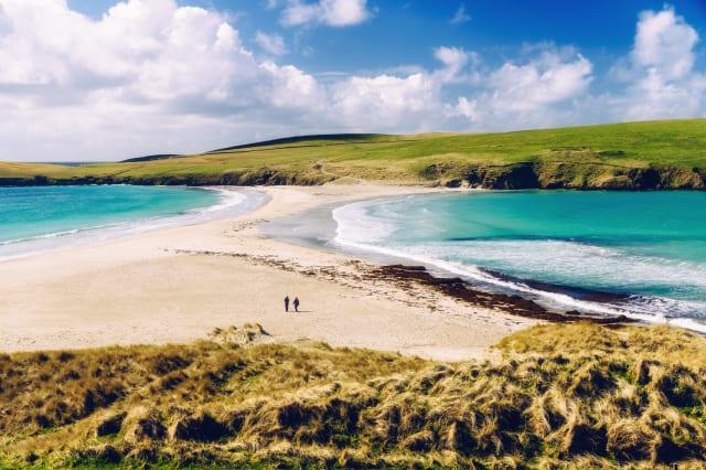 St Ninian's Isle tombolo, Shetland Islands, Scotland