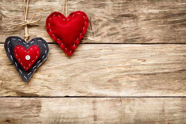 valentine's day love heart card