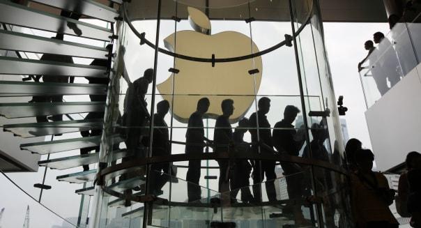 APTOPIX Hong Kong Apple Store Opening