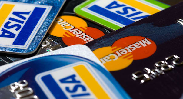 Collection of Visa and Mastercard credit cards