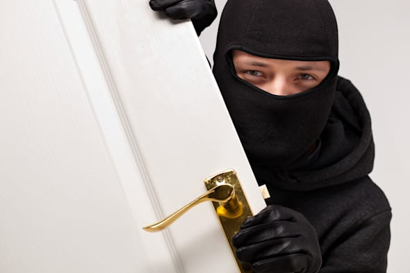 home burglary concept with a...