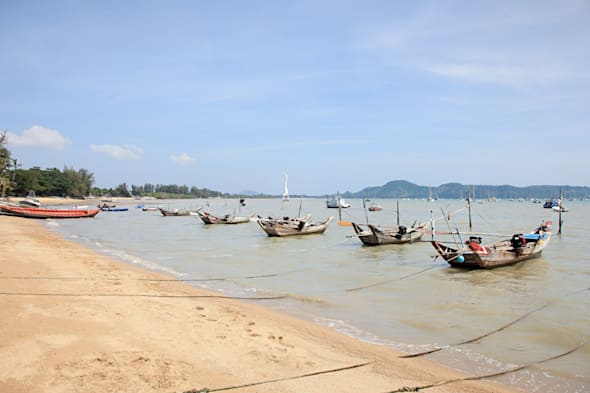 Fishing boats near chalong bay, phuket, thailand