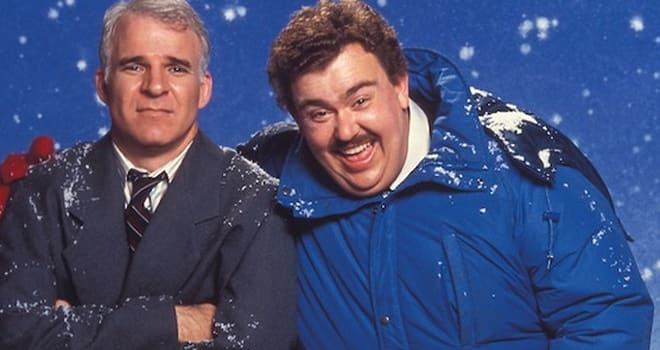 Steve Martin and John Candy for Planes, Trains & Automobiles.