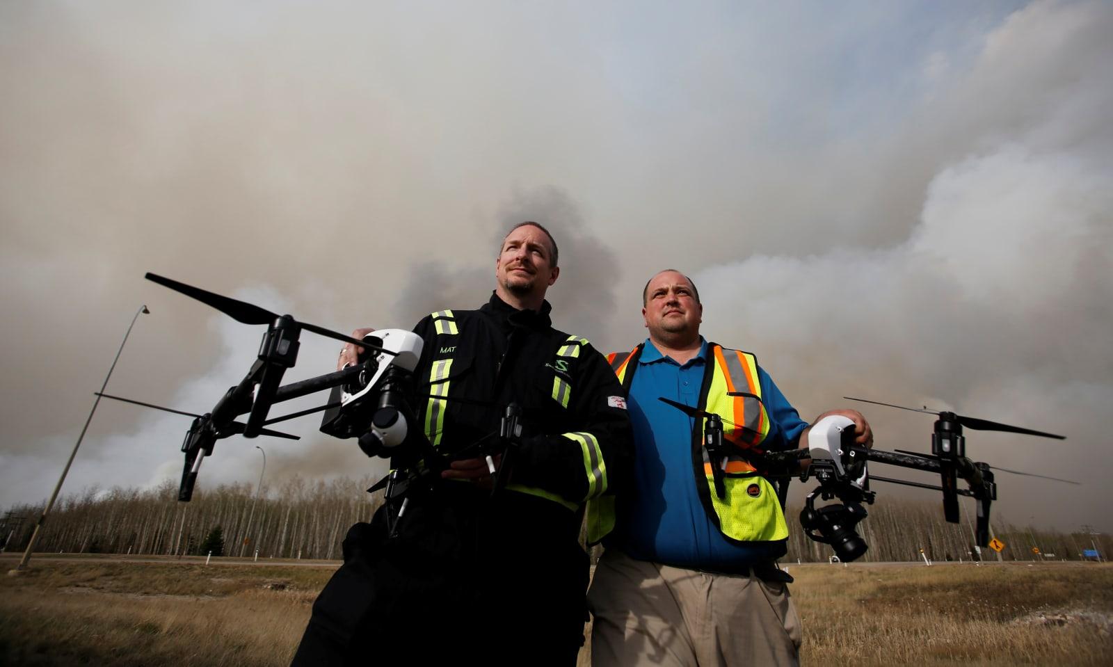 CANADA-WILDFIRE/DRONE