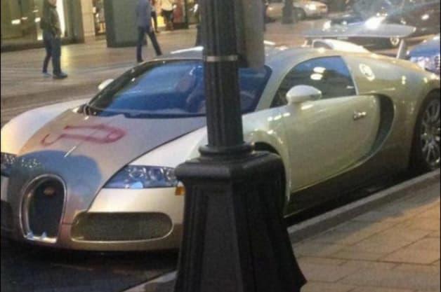 Bugatti Veyron penis vandalism