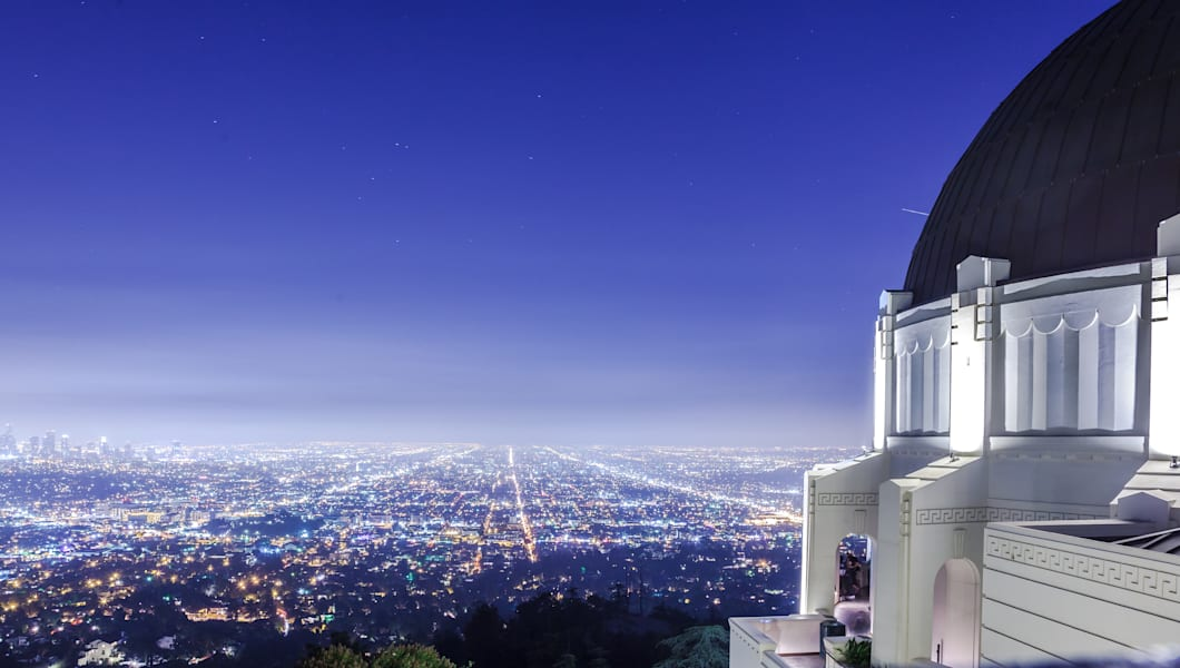 Night View of Los Angeles. Griffith Observatory