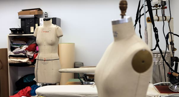 Dress form in the office of fashion designer Rachel Roy on Sep. 1, 2011 in New York. (Bobby Doherty, AOL)