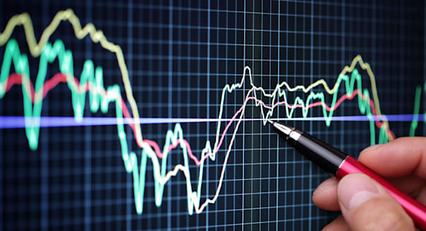 CBE3CA Market analyze on lcd screen finance; business; graph; technology; investment; chart; stocks; and; shares; screen; data;