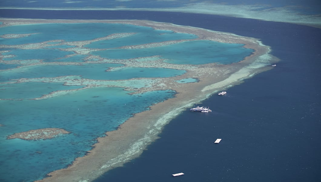 The Great Barrier Reef is the worlds largest reef system composed of over 2,900 individual reefs and 900 islands stretching for