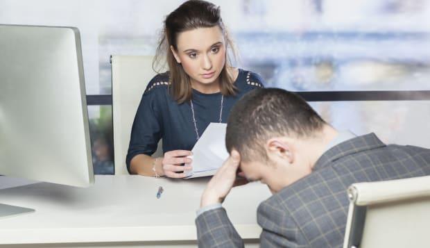 bad job interview   concept