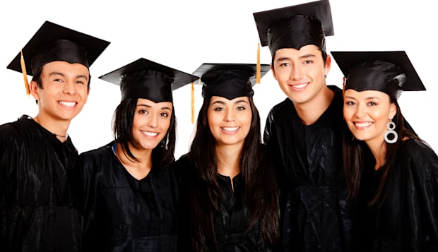 group of graduates wearing a...