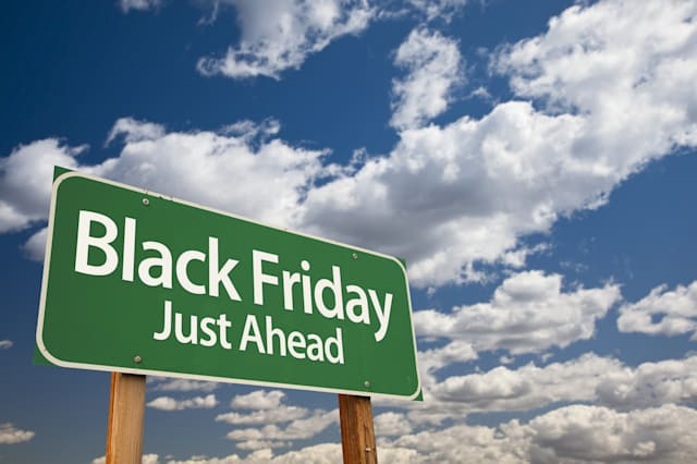 black friday just ahead green...
