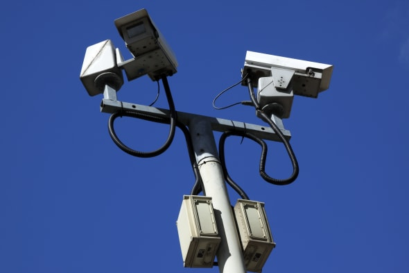 Ireland, North, Belfast, Lanyon Place, Security Closed Circuit Television Camera's....