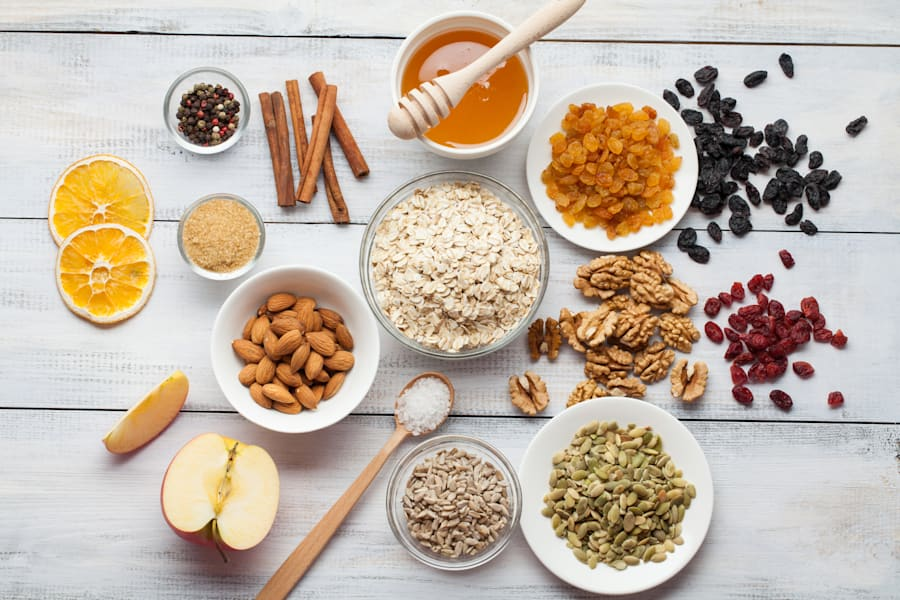Play around with different flavours, colours and textures for delicious homemade muesli