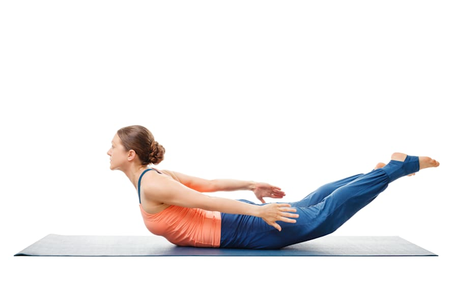 If this pose is uncomfortable on your pelvic bone, place a blanket underneath