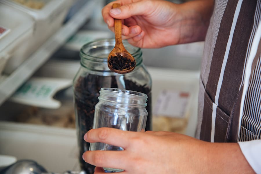 Customers can bring in their own bags or jars to be refilled, reducing the reliance on