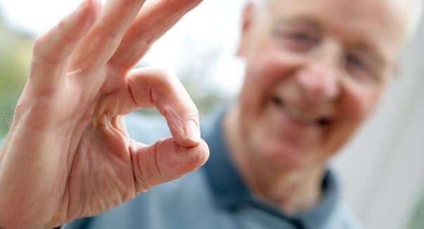 Older Man Gesturing