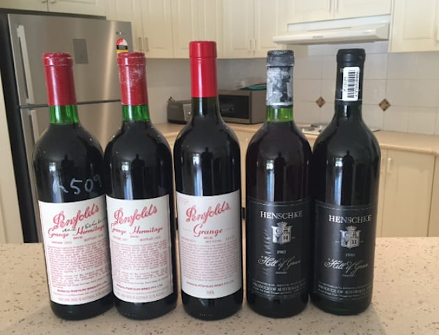 The alleged illegal syndicate had a large selection of vintage wines, many valued at over $1000 a