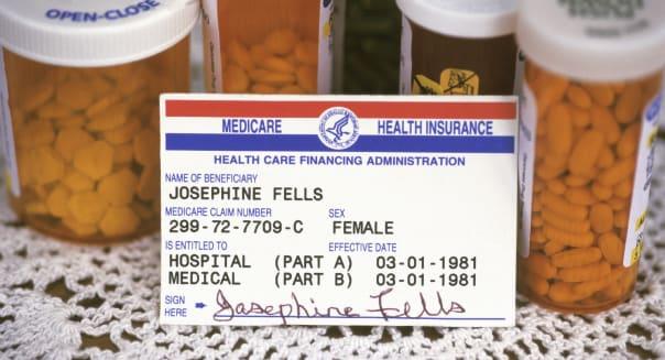 Medicare Card & Pill Bottles