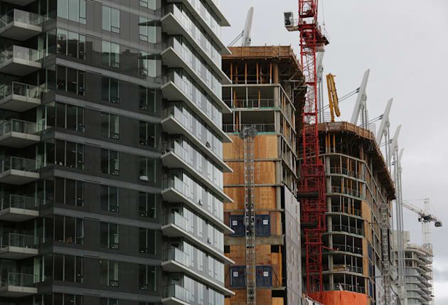 New condominium towers are seen in the Yaletown district of Vancouver on Nov. 19,