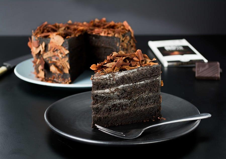 Lindt Black Velvet Cake