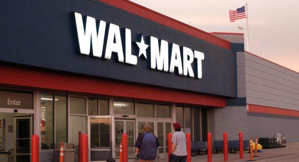 walmart store u.s. flag