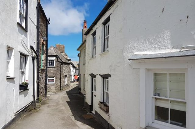 The exterior of the house in Port Isaac