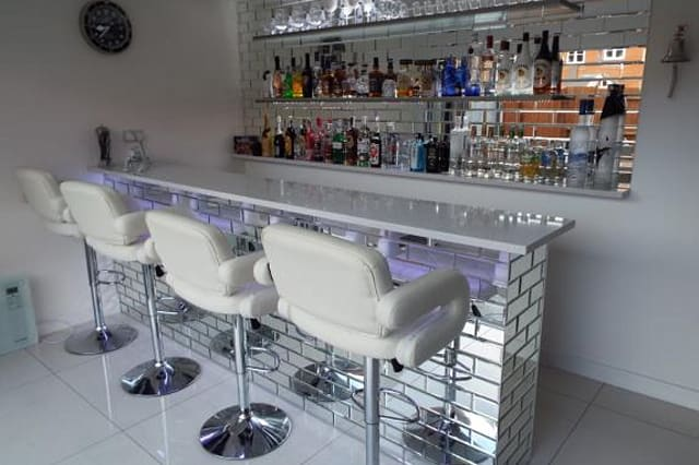 The mirrored bar
