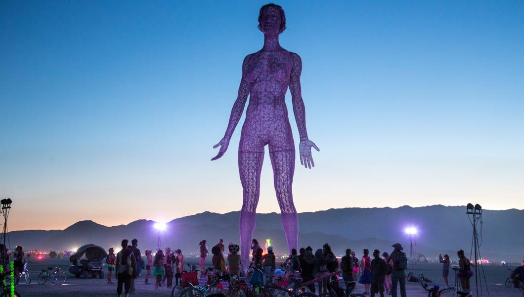 The R-Evolution art installation in the desert during the annual Burning Man festival September 1, 2015 in Black Rock City, Neva