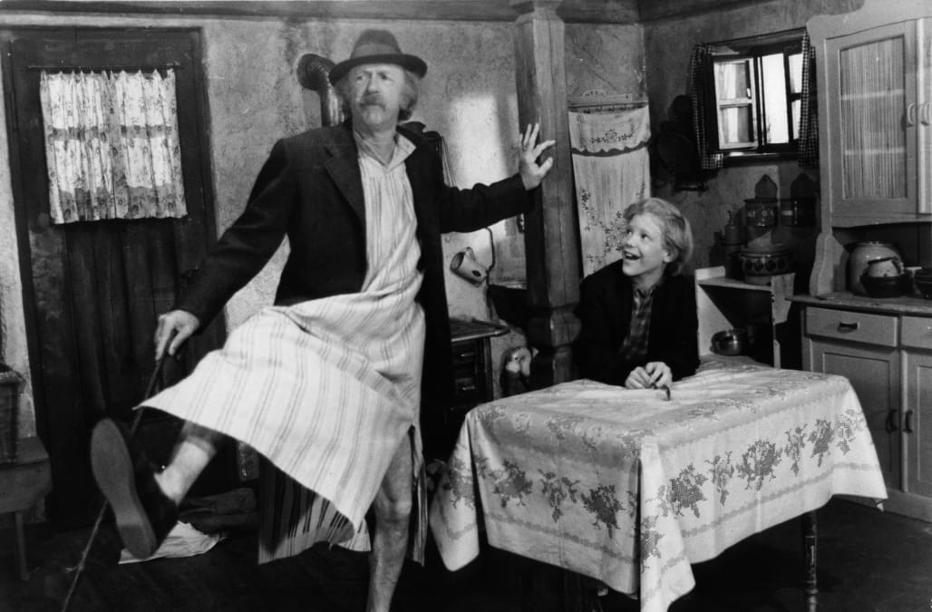 Jack Albertson And Peter Ostrum In 'Willy Wonka & the Chocolate Factory'
